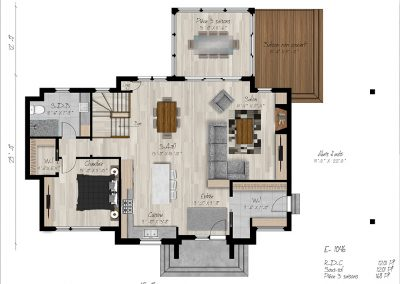 Plan RDC_Maison modèle