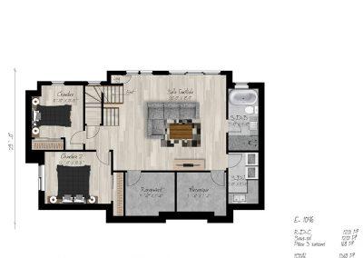 Plan sous-sol_Maison modèle